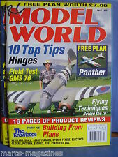 RCMW RC MODEL WORLD APRIL 1999 PANTHER PLAN KEITH MITCHELL BRISTOL BEAUFIGHTER