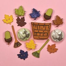 Buttons Galore Raking Leaves 4621 - Autumn Collection Garden Flowers Dress it Up
