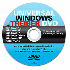 Universal Treiber DVD für alle PC / Notebook / Laptop mit Win 7 - 8 - 8.1 - 10