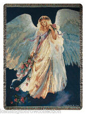 "THROWS - ""LOVE ONE ANOTHER"" ANGEL THROW - 50"" X 60"" - TAPESTRY THROW BLANKET"