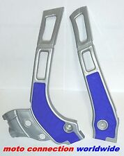 YAMAHA YZ 125 YZ 250 05-16  ACERBIS X-GRIP FRAME GUARDS SILVER BLUE