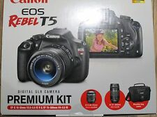 *NEW* Canon EOS Rebel T5 Digital SLR Camera with Bag, 18-55mm Lens & 75-300mm Le