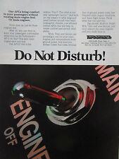 11/1981 PUB TURBOMACH SAN DIEGO GEMINI TITAN APU AUXILIARY POWER UNIT CAAA AD