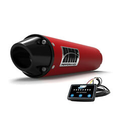 HMF Performance Slip On Exhaust Red Black Euro End Cap EFI Optimizer Rancher 420