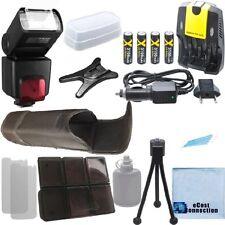 XIT SB1010 Flash + 4 Battery + Home / Car Charger for Nikon D800 D800E D1H D2H