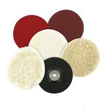 115mm Sanding & Polishing Kit, Car Boat Valeting & Cleaning Bonnet, Sponge, Mop
