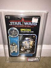 AFA 85 Star Wars 1985 Kenner POTF 92-back R2-D2 (C80 B85 F85) UNPUNCHED NM+