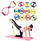 Resistance Band Yoga Pilates Abs Exercise Stretch Fitness Tube Workout Bands HP