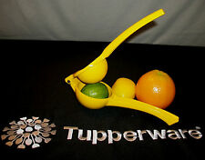 Tupperware NEW ~YELLOW Lemon Lime Press ~Juice Squeezer Marinade Maker