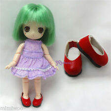 Middie Blythe Hujoo Baby Obitsu 11cm Body Bjd Doll School Step-in Shoes RED