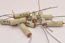 10x Vintage Keramik Kondensator Typ 1K KAC, 1000 pF, f. Radio & Funk, axial, NOS