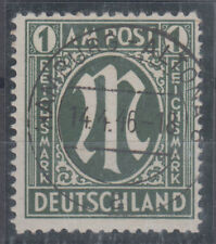 Germany American and British Zone the high value stamp 1RM Mi#35 1945 USED