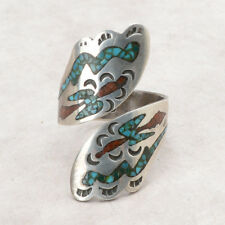 Vintage Native American Sterling Navajo Turquoise Ring 8 ~ Signed BC CB?