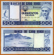 Cape Verde, Africa, 500 Escudos, 1977, FIRST INDEPENDENT, Pick 55 UNC