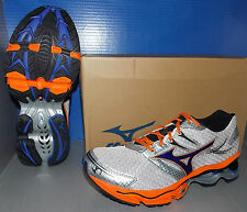 MENS MIZUNO WAVE CREATION 14 in colors SILVER / BLUE / ORANGE SIZE 10