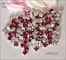 30 Swarovski ss10 Fuchsia Pink Vintage Rose Montees Sew On Crystals 10ss Pack