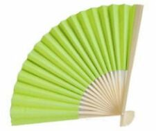 50 Lime Green Paper Hand Fans Wedding Bridal Shower Party Favors Q16680