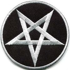Pentagram pentacle satanic occult goth wicca witch applique iron-on patch S-1125