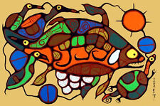 Norval Morrisseau giclee print on canvas