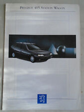 Peugeot 405 Estate range brochure 1993 Italian text