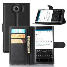 DP Wallet Stand Flip Holder Leather Pouch Case Cover For BlackBerry Priv
