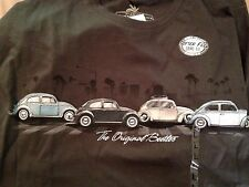 NWT Newport  Blue T Shirt VW Volkswagen The Original Beetles L Large Abbey Road