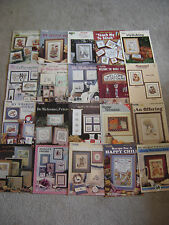 Mixed lot of 20 cross stitch charts Leisure Arts Cross my Heart