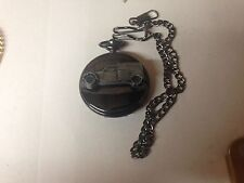 Citroen 2CV Van ref44 emblem polished black case mens pocket watch