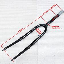 """28"""" Trekkingrad Gabel 1"""" Gewindeschaft 185 mm / 70 mm schwarz Öse für Lowrider"""