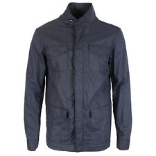 Armani Jeans - Navy Linen Caban Coat - Size 48(UK38) - *NEW WITH TAGS* RRP £339