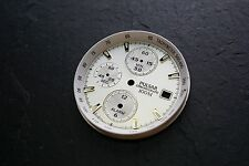 Pulsar Chronograph Watch Dial - 100m White & Gold #3