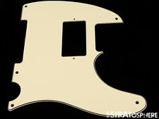 *NEW Cream HUMBUCKER Telecaster PICKGUARD for USA Fender Tele 3 Ply 5 Hole