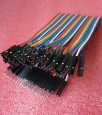 40PCS Dupont wire jumper cables 20cm 2.54MM male to female For Arduino