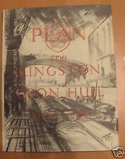 A PLAN FOR KINGSTON UPON HULL 1945 - Abercrombie Excellent condition.