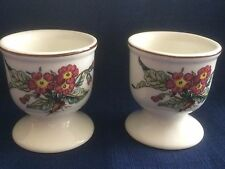 Villeroy & Boch Botanica (brown rim) footed egg cups (two)