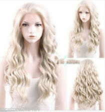 Heat Resistant Long Curly Wavy Light Ash Blonde Hair Wig+gift
