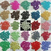 Wholesale Loose Beads Colorful Round Pearl Spacer 3/mm4mm/6mm/8mm/10mm 100 Pcs