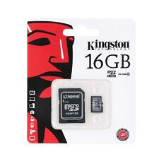 Kingston 2 in 1 Class 10 MicroSD TF Flash Memory Card +Card Adapter 16GB WB7R