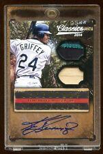KEN GRIFFEY JR 1/1 AUTO PATCH/BAT LEGENDARY LUMBERJACKS 2014 PANINI  HOF AMAZING