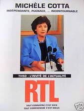 PUBLICITÉ RTL L'INVITÉ DE L'ACTUALITÉ MICHÈLE COTTA INDÉPENDANTE INCONTOURNABLE