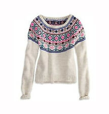 NEW AMERICAN EAGLE OUTFITTERS WOMENS PULLOVER CREW SWEATER TOP BLOUSE KNIT SZ XS
