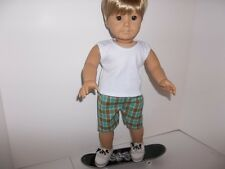 "Skateboard and Shorts Outfit  Doll Clothes made for 18"" American Girl Boy Doll"