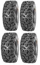 Full set of Kenda Bear Claw HTR Radial (8ply) 27x9-12 and 27x11-12 ATV Tires ...
