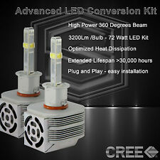 360 Degree Beam - New Gen CREE LED 6400LM Fog Light Kit 6k 6000k - H3 (Q)