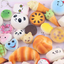 10PCS Set Mini Random Squishy Soft Panda/Bread/Cake/Buns Phone Straps Charm Hot