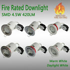 10 x 240V GU10 Fire Rated Downlights Fixed or Tilt GU10 Spotlights 4.5W leds