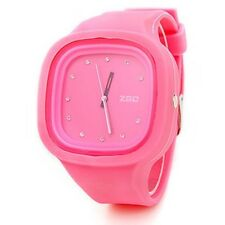 ZGO Quartz Jelly Watches with Rhinestone Unisex Super Cute (Assorted Colors)