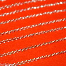 2 feet 925 Sterling Silver BULK Continuous 1.7mm Round ROLO Chain Jewelry Making
