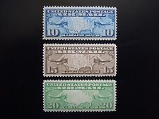 1926-27 #C7 C8 C9 Map of US & 2 Planes MNH OG VF CV $23.00 #1