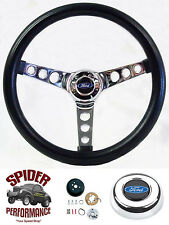 "1965-1966 Ford F-100 F-250 F-350 steering wheel BLACK 13 1/2"" Grant"